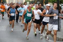 stads- löpare 2007 för stadsmalaga race arkivbilder