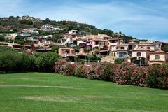 Stads- landskap av Cannigione Arkivfoton