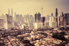 Stads- landskap av Kuala Lumpur Arkivbild