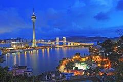 Stads- landskap av Macao Fotografering för Bildbyråer