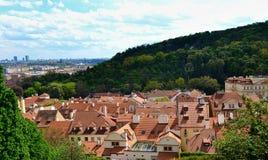 Stads- landskap av Prague Royaltyfri Fotografi