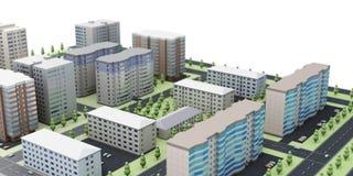 stads- landskap 3d Arkivfoto
