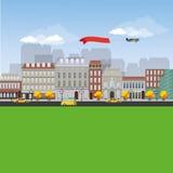 Stads- landskap för detaljerad plan design Royaltyfria Foton