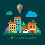 Stads- landskap för illustration vektor illustrationer