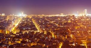 Stads- landskap för natt royaltyfri bild
