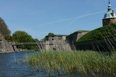 Stads- landskap för svensk sommar Arkivfoto
