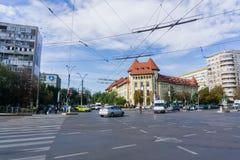 Stads- landskap i centrala Bucharest arkivbilder