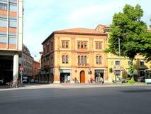Stads- landskap i Ferrara Arkivfoton