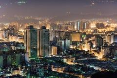 Stads- landskap i natt arkivbilder