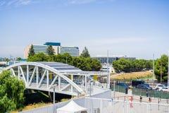 Stads- landskap i Silicon Valley, Santa Clara, Kalifornien fotografering för bildbyråer
