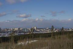 Stads- landskap i soligt väder Royaltyfri Fotografi