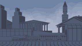 Stads- landskapdrev Arkivbild