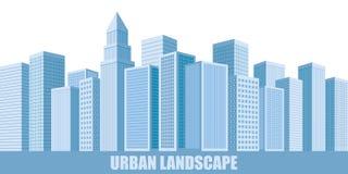 Stads- landskapskyskrapor Royaltyfri Foto