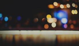 Stads Licht Nachtleven Defocused Vaag het Gloeien Abstract Concept Royalty-vrije Stock Foto's