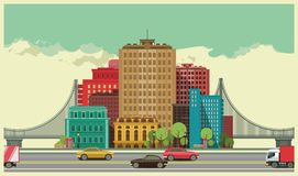 stads- liggande Arkivfoto