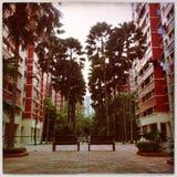 Stads- liv singapore Arkivfoto
