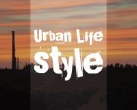 Stads- livsstilaffischbaner Stadslandskap på royaltyfri illustrationer