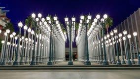 Stads- ljus, Los Angeles fotografering för bildbyråer