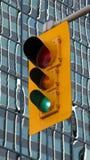 stads- ljus trafik arkivbild