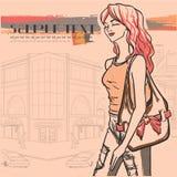 Stads- mode. Stad och folk stock illustrationer