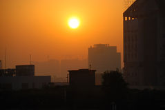 stads- morgon Royaltyfria Foton