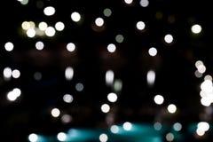 stads- nattljusbokeh Arkivfoton
