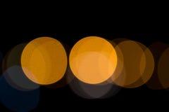 stads- nattljusbokeh Royaltyfri Bild
