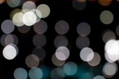 stads- nattljusbokeh Arkivbild
