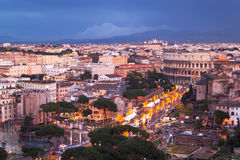 Stads- nattplats av Rome Fotografering för Bildbyråer