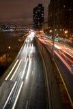 stads- natttrafik Arkivbilder