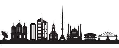 Stads- nio och religiösa byggnader Royaltyfri Foto