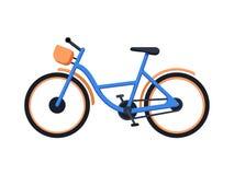 Stads- nytto- cykel med a moment-till och med ram Eco transport Plan vektorillustration som isoleras på vit stock illustrationer