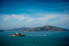 Stads- och havsiktslandskap Royaltyfria Foton
