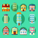 Stads- och stadbyggnader vektor illustrationer