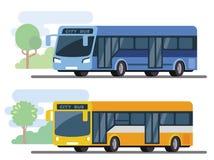 Stads openbare bus Royalty-vrije Stock Afbeeldingen