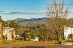 Stads- plats för Aigua stad, Uruguay Arkivbilder