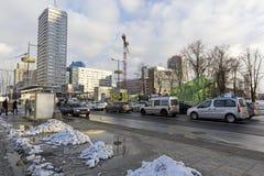 Stads- plats i Warszawa Fotografering för Bildbyråer