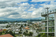 Stads- plats på Quitoutkant Arkivbild