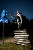 stads- prov för cykelfristilryttare Royaltyfria Foton
