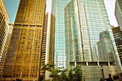 Stads- reflexion i Hong Kong Royaltyfri Bild