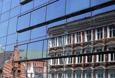 Stads- reflexioner Royaltyfria Foton