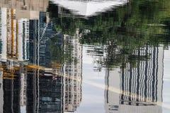 stads- reflexioner Royaltyfria Bilder