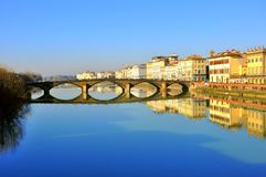 Stads- reflexioner i Florence, Italien Royaltyfri Fotografi