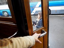 Stads- Retro transport f?r inregarnering royaltyfri foto