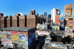 stads- rooftops Royaltyfri Fotografi