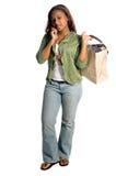 stads- sexig shoppare arkivbild