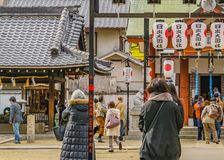 Stads- Shintoismtempel, Osaka, Japan royaltyfri fotografi