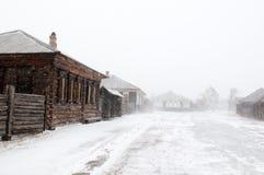 stads- siberian typ för bosättningshushenskoye royaltyfri bild