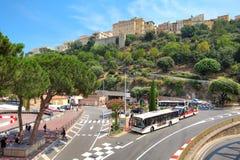 Stads- sikt av Monte Carlo, Monaco. Royaltyfri Bild