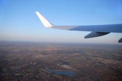 stads- sikt för flyg- plats Arkivfoton
